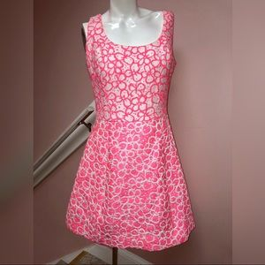 Lilly Pultizer Pink Eyelet Dress Size 8